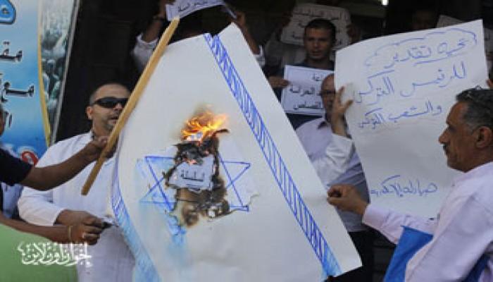 صيادلة الإسكندرية يحرقون علم الكيان ردًّا على المجزرة