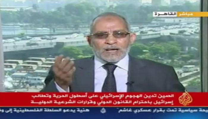 المرشد العام يطالب بمواقف عملية ضد الصهاينة