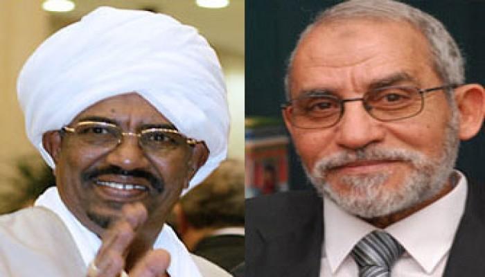 المرشد العام يهنئ البشير برئاسة السودان