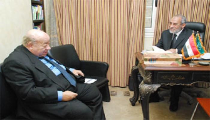المرشد العام يستقبل السفير إبراهيم يسري