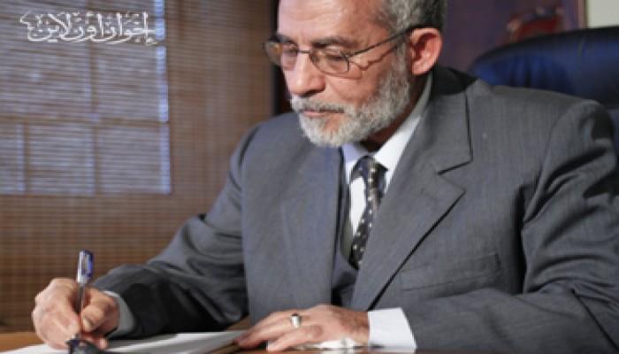 المرشد العام يستقبل وفدًا من قيادات حزب العمل