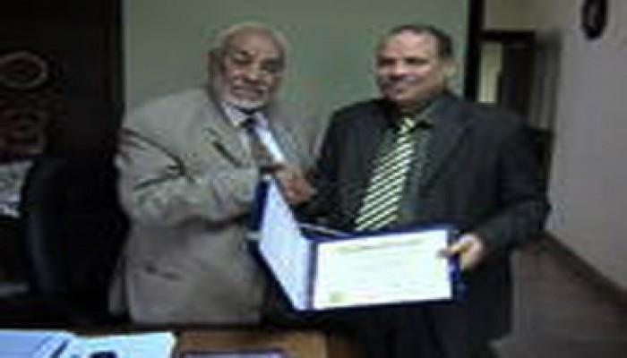 المرشد العام يهنِّئ الحلواني بحصوله على الدكتوراه