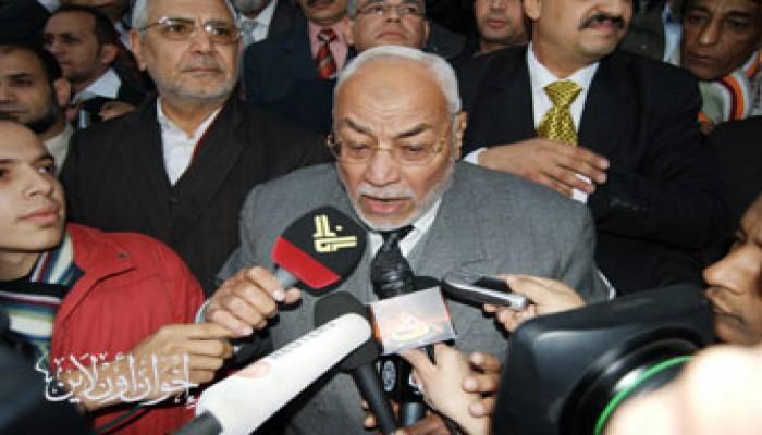 المرشد العام يطالب الشعب المصري بالتحرك العاجل لإغاثة غزة