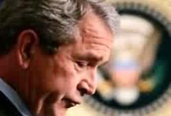 كوارث المال تودع بوش