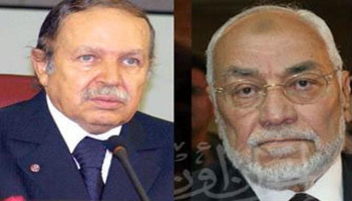 المرشد العام يواسي الرئيس الجزائري ورئيس حركة السلم في قتلى الفيضانات