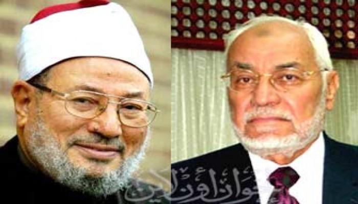 المرشد العام ومفكرو مصر يشاركون في حفل زواج نجل الشيخ القرضاوي