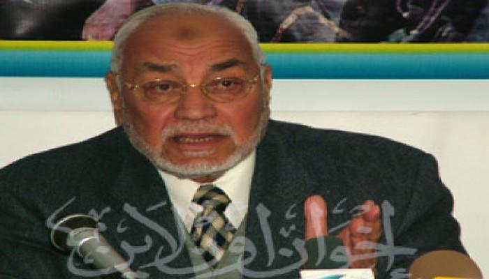 المرشد العام يطالب الأنظمة العربية بفتح المعابر وإنقاذ غزة