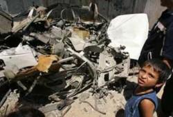 غارة صهيونية على غزة ولقاء جديد بين عباس وأولمرت