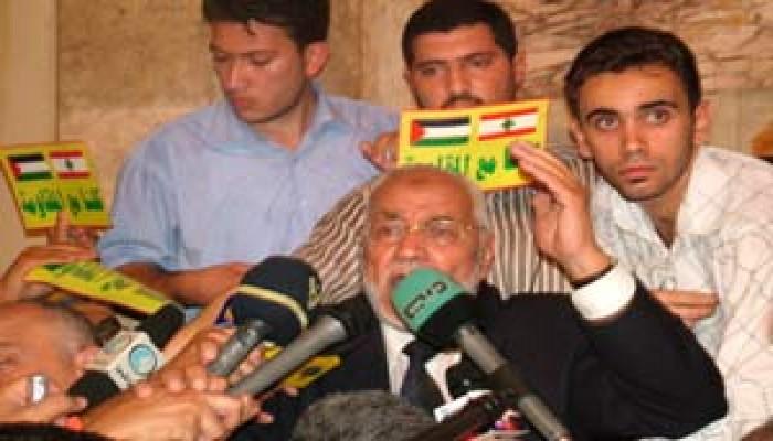 عاكف يطالب الحكام العرب بإغاثة فلسطين ولبنان وبمقاطعة الصهاينة