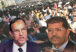 اعتقال مرسي والعريان ومئات الإخوان لتضامنهم مع القضاة
