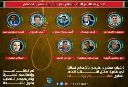 أهالي 9 أبرياء يطالبون بوقف إعدامهم بهزلية النائب العام