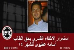 للشهر الـ14.. استمرار اختفاء أسامة عطيوي قسريا ببني سويف