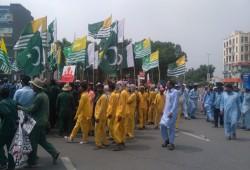 """مظاهرات بباكستان نصرة لكشمير في """"يوم الدفاع"""" الوطني"""