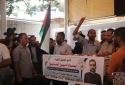 """مسيرة غاضبة إثر استشهاد """"السايح"""".. واعتقال 14 وإصابة طفل برام الله"""