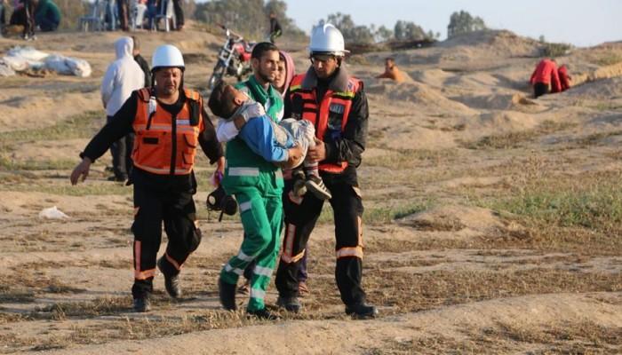 إصابة العشرات في جمعة انتفاضة الأقصى والأسرى شرق غزة
