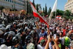 احتجاجات واعتصام وسط بيروت لتردي الأوضاع المعيشية