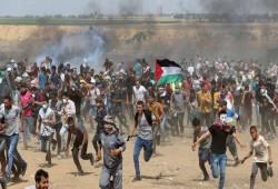 """""""لا للتطبيع"""" عنوان الجمعة الـ79 لمسيرات العودة بقطاع غزة"""