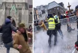 """هكذا رد مسلمو """"النرويج"""" على حادث إحراق القرآن الكريم (فيديو)"""