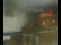 حريق منطقة إيواء زينهم