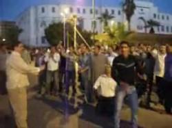 غضب أنصار خليل عوض الله أمام مديرية أمن السويس