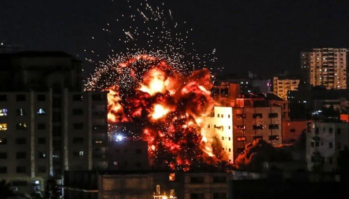 نتنياهو يختبئ من صواريخ المقاومة إثر شنّ الاحتلال سلسلة غارات