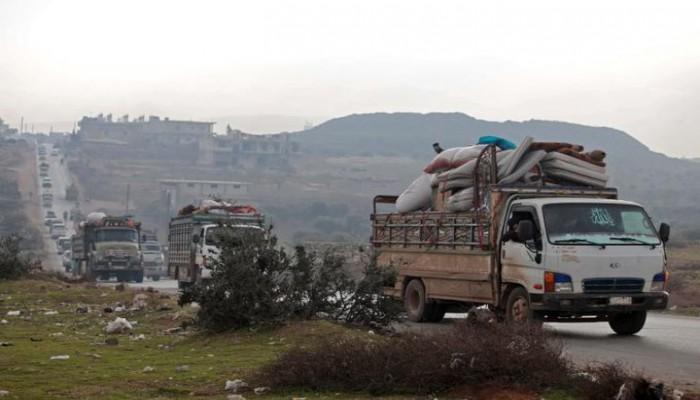 """سوريا.. نزوح 47 ألف مدني في """"إدلب"""" خلال 3 أيام"""