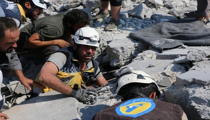 """الدفاع المدني السوري يحذر: إدلب """"كارثة إنسانية"""""""