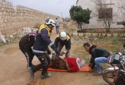 مقتل 4 مدنييْن ونزوح نحو 13 ألف سوري في قصف روسي منذ أمس