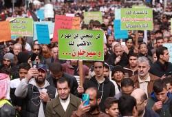 """مظاهرات حاشدة بشوارع """"عمان"""" رفضًا لـ""""صفقة القرن"""""""