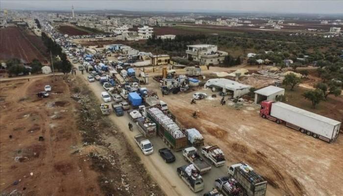 نزوح 143 ألف سوري من إدلب خلال 3 أيام