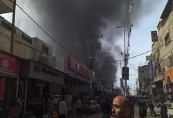 مصرع وإصابة 54 جرَّاء حريق كبير اندلع بمخبز وسط قطاع غزة