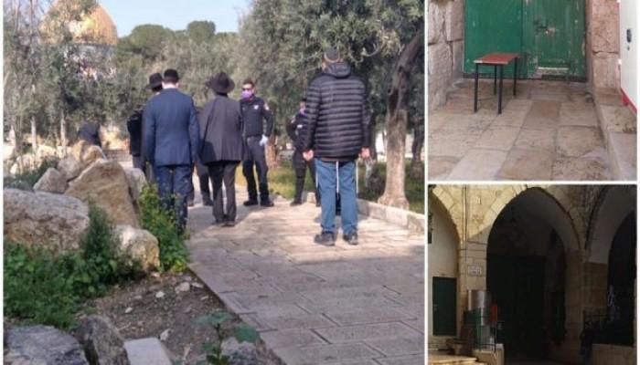 """عشرات الصهاينة يقتحمون باحات """"الأقصى"""" ويعتدون على فلسطينيين بالضفة"""