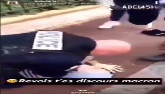 الشرطة الفرنسية تعتدي بالضرب المبرح على فتاة مسلمة صغيرة