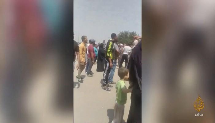 """أهالي الدويقة ينضمون لمظاهرات المصريين تنديدا بقرارات """"السيسي"""""""