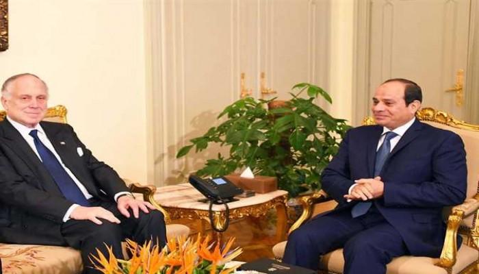 """في سياق متكرر .. رئيس الكونجرس اليهودي العالمي يلتقي """"السيسي"""" للمرة الخامسة بالقاهرة"""