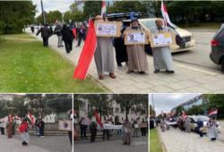 شاهد| مظاهرات في سيدنى وبرلين وفرانكفورت وميونخ تطالب برحيل السفاح