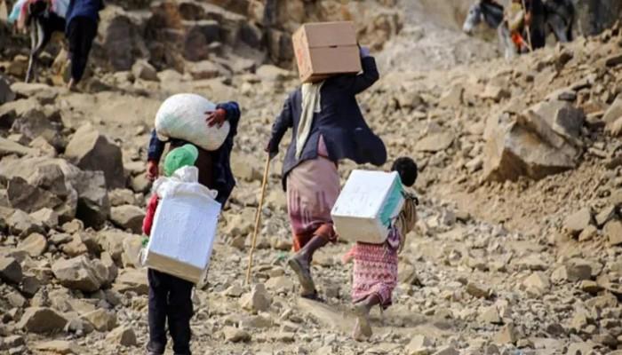 مأساة إنسانية باليمن لـ4 ملايين نازح بمناطق الحوثي