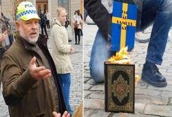 متطرفون يحرقون نسخة من القرآن أمام مبنى الحكومة السويدية