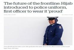 سابقة فريدة.. أول شرطية ترتدي الحجاب كجزء من زيها الرسمي بنيوزيلدا
