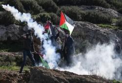 الاحتلال الصهيوني يقمع مسيرة دير جرير شرق رام الله