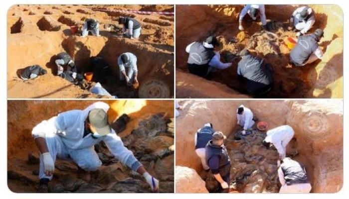 """ليبيا.. """"بركان الغضب"""" تظهر صورا مؤلمة لمقبرة جماعية جديدة بترهونة"""