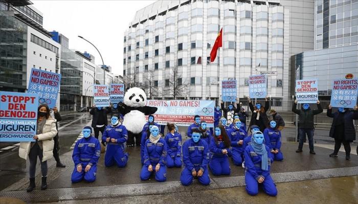 ألمانيا.. مظاهرة ضد جرائم الصين بحق مسلمي الأويجور