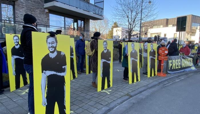 وقفة أمام سفارة مصر ببروكسل تطالب بالإفراج عن الباحث المعتقل أحمد سمير