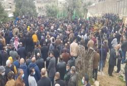 آلاف الفلسطينيين يودعون البرغوثي وأبو تبانة في مشهد مهيب
