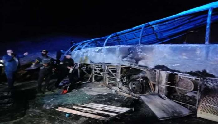 كوارث الطرق مستمرة.. تفحّم 20 شخصًا وإصابة 3 آخرين في حادث أتوبيس بأسيوط