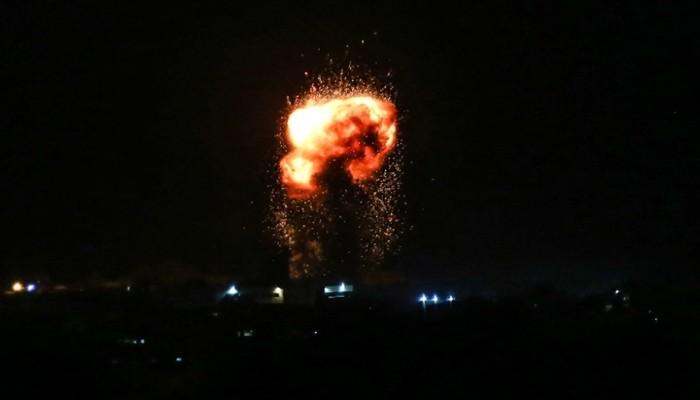 الاحتلال الصهيوني يشن سلسلة غارات على أهداف بقطاع غزة