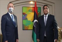 ليبيا.. المنفي يستقبل وزير الخارجية التركي