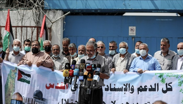 غزة.. وقفة تضامنا مع القدس بمواجهة الاعتداءات الصهيونية