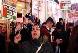 مسلمو أمريكا ينددون بجرائم الصهاينة ضد الفلسطينيين بالقدس