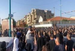 الاحتلال الصهيوني يقمع مُشَيّعِي جنازة الشهيد حسونة باللد